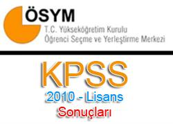 2010 Kpss Sonuçları